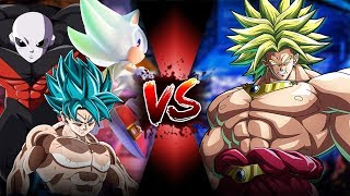 GOKU, JIREN, & SONIC VS BROLY!! | Sprite Battle End Game Part 1