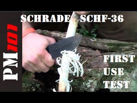 Schrade SCHF-36 Bushcraft Survival Knife: First Use Test (1 of 3)
