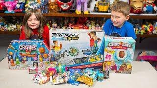 HUGE BEYBLADE Burst Toy Chocolate Egg Surprise Maker Ooshies Toys for Boys & Girls Kinder Playtime