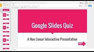 Create An Interactive (Non Linear) Quiz In Google Slides