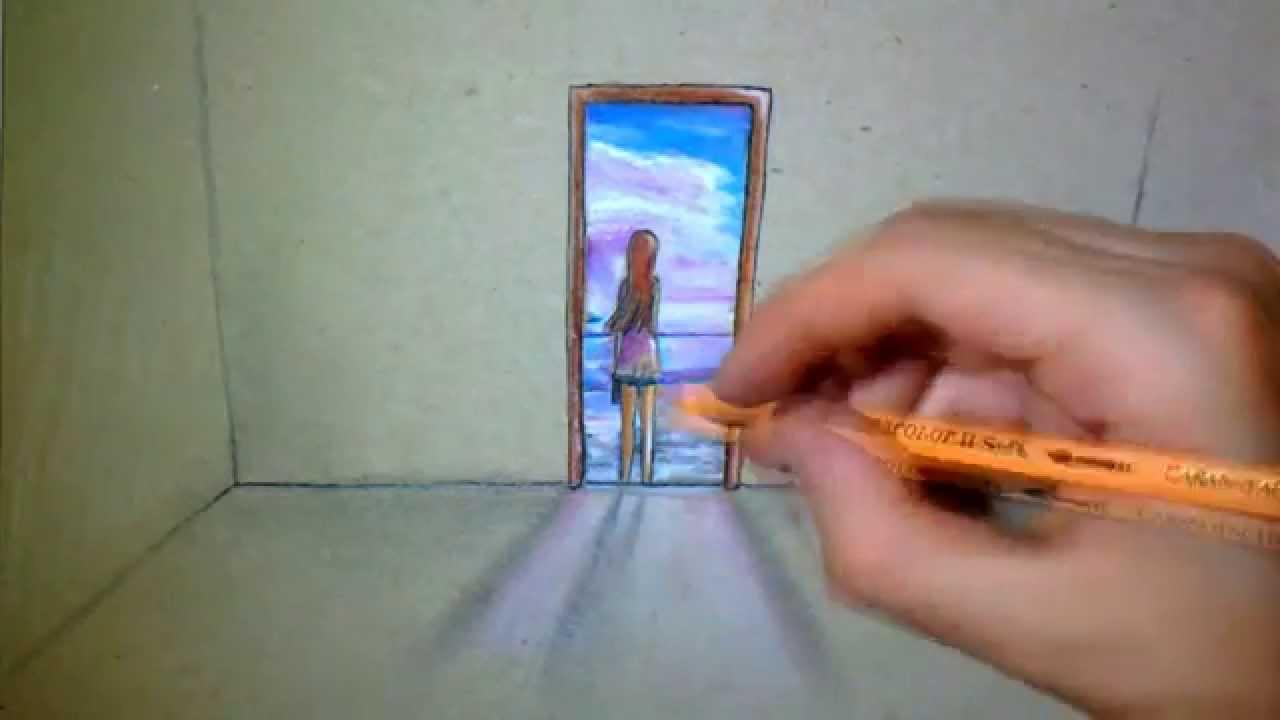 Dessin sur porte images for Porte ouverte dessin