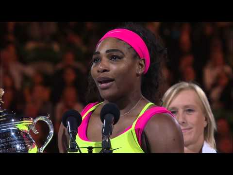 Serena Williams winning speech (Final) - Australian Open 2015