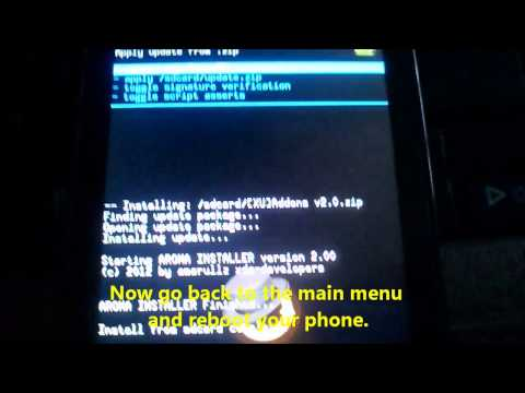 Install Clockworkmod Cwm Recovery Sony Xperia U St25i For Locked