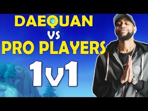 DAEQUAN VS PRO PLAYERS | PLAYGROUND 1v1s - (Fortnite Battle Royale)