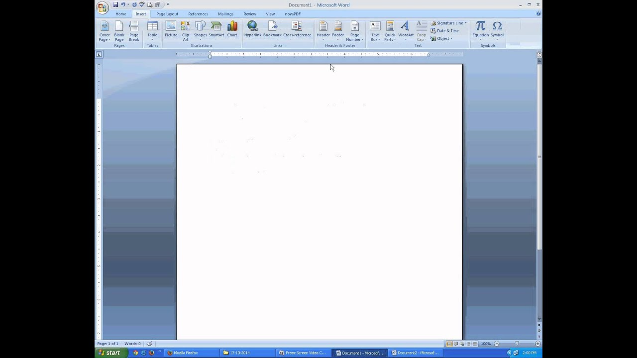 how to insert page number in pdf file