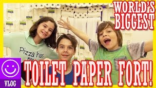 WORLDS BIGGEST TOILET PAPER FORT!!  CHALLENGE!  |  KITTIESMAMA