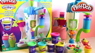 Play Doh Sweet Shoppe Perfect Twist Ice Cream Playset Unboxing Play-Doh Hasbro Toys Review