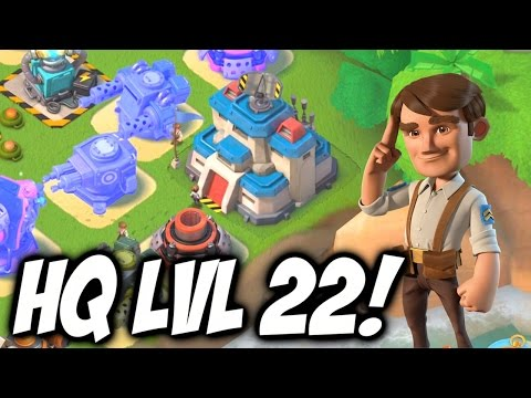 Boom Beach NEW UPDATE! ★ MAXED OUT HEADQUARTERS LEVEL 22!!! ★ Boom Beach Update Review!