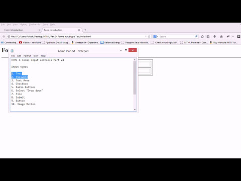 HTML 4 Forms Input type text Part 24