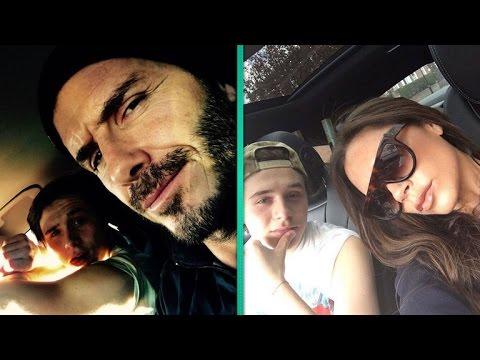 David and Victoria Beckham React To Their 17-Year-Old Son's Driving: 'Do I Look Nervous?'