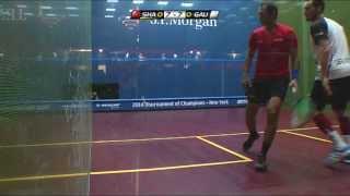 Squash: J.P.Morgan ToC 2014 - PSA Final Roundup - Gregory Gaultier v Amr Shabana