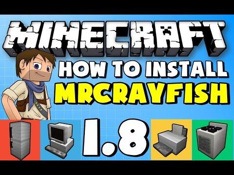 ★ Minecraft Mods: How to Install Mrcrayfish Furniture mod For Minecraft 1.8