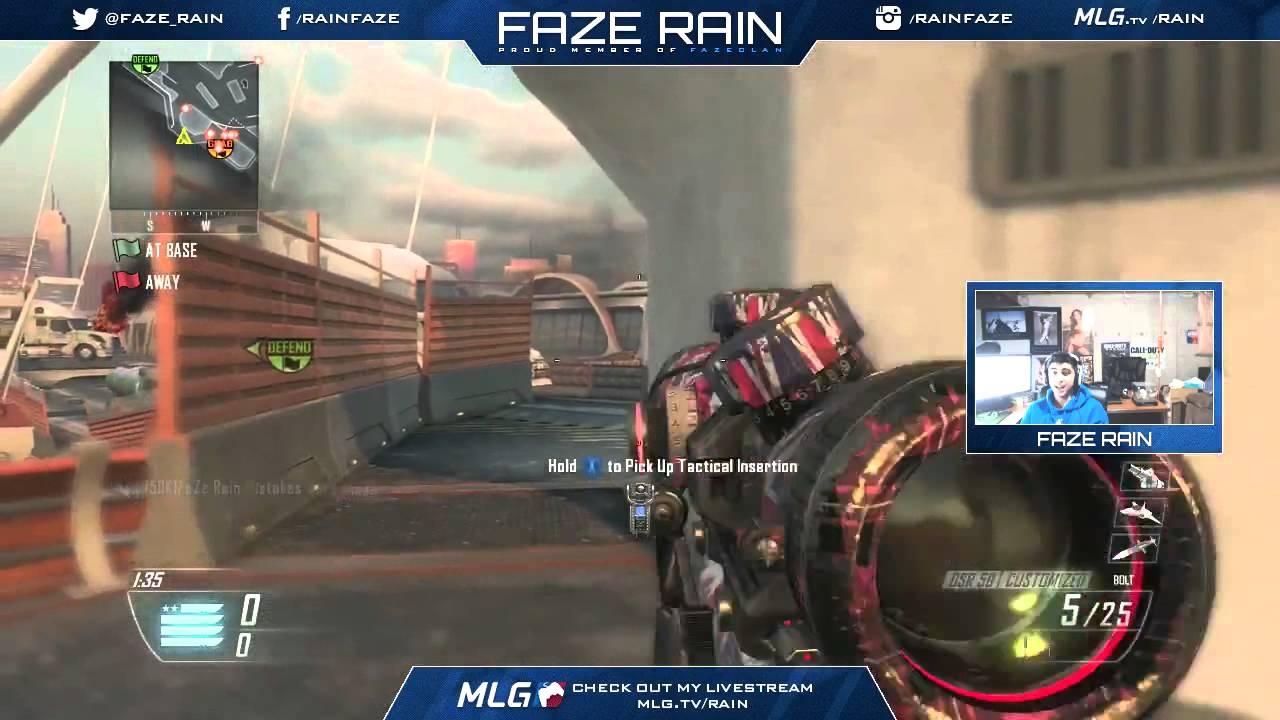 faze rain insane trickshot race vs faze adapt   youtube