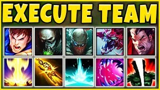 EXECUTION TEAM COMP 2019 (OVER 20,000+ TRUE DMG) THE MOST OP TEAM EVER  - League of Legends