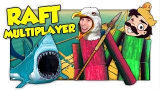 A CACCIA DI SQUALI CON GABBY L'IMPERATORE DEL MARE! - Raft ITA Multiplayer w/ Gabby16bit