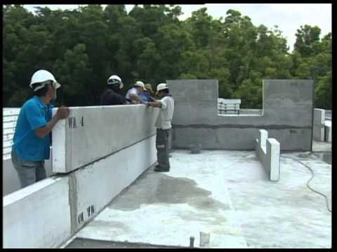 Iris koto building system house built in 7 days youtube for Foam home construction