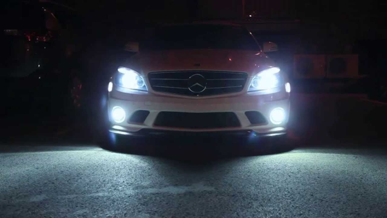W204 C63 P30 Amg Benz 6000k Hid Fog Lights Youtube
