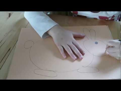 Видео как нарисовать зайца для детей