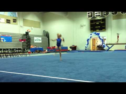 Tiny Five Year Old AMAZING Gymnast, Cameron! Floor routine from first meet of the season!