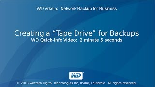 WD Arkeia: Creating \