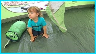 FIRST FAMILY CAMPING EXPERIENCE! | Sam & Nia