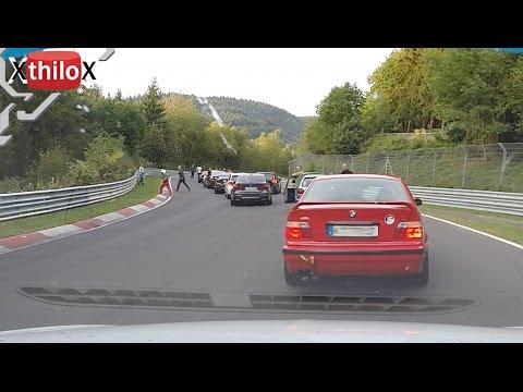 Crazy Lap..Big Megane Crash..then half lap backwards :) - Nürburgring Nordschleife rewind reverse