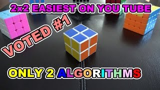 How to Solve a 2x2x2 Rubik's Cube: Easiest Tutorial in 4K HD Only 2 Easy Algorithms to Memorize