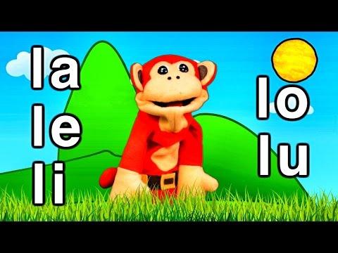 Sílabas la le li lo lu - El Mono Sílabo - Videos Infantiles - Educac...