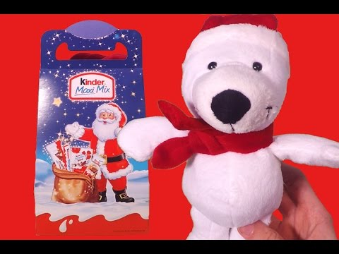 Kinder Maxi Mix Unboxing w/ Christmas Special Teddy Bear