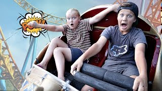 Riding EVERY RIDE at an Amusement Park!