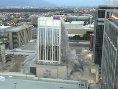 Slow Motion Video of Key Bank Implosion