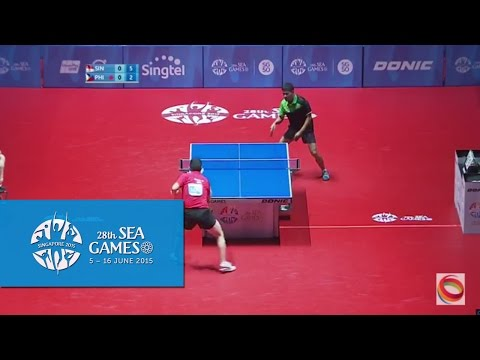 Table Tennis (Men's Singles Finals Singapore vs Philippines) | 28th SEA Games Singapore 2015