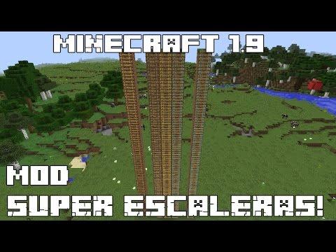Minecraft 1.9 MOD SUPER ESCALERAS! FastLadder Mod Español!