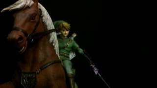Link on Epona Legend of Zelda Statue Unboxing by First 4 Figures