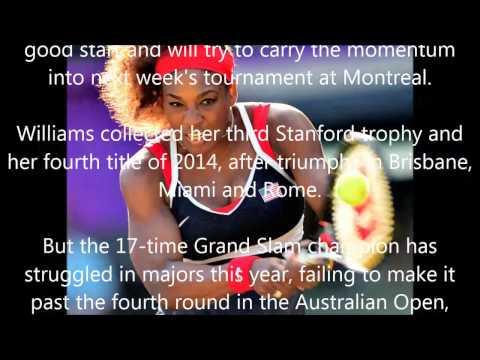 Serena wins WTA Stanford title