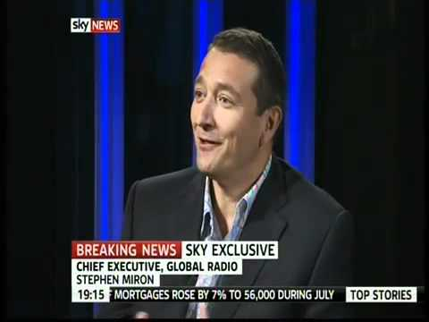 Stephen Miron discusses Global Radio's decision to create the Capital Network on Sky News 13.09.2010