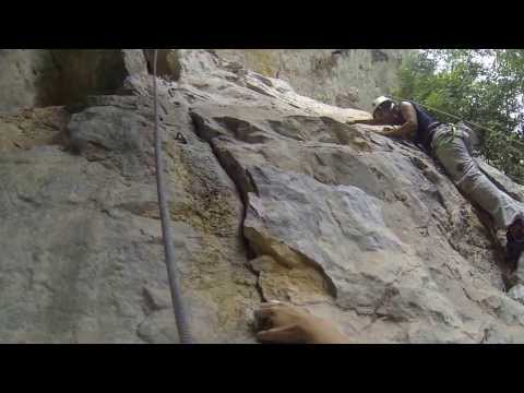 Rock climbing at Saraburi, Thailand
