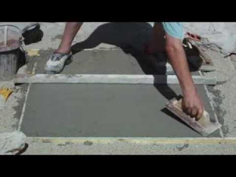 Pavimento de hormig n enlucido y abujardado v deo n 113 - Como hacer cemento para suelo ...