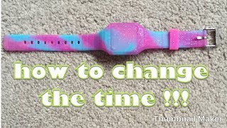 How to change the time on a Smigel/Claires watch
