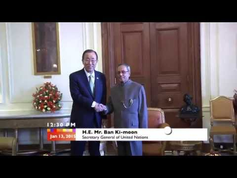 Secretary General of United Nations calls-on the President - 13-01-15
