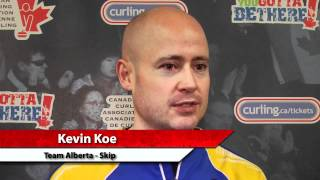 2012 Tim Hortons Brier Draw 3 Media Scrum