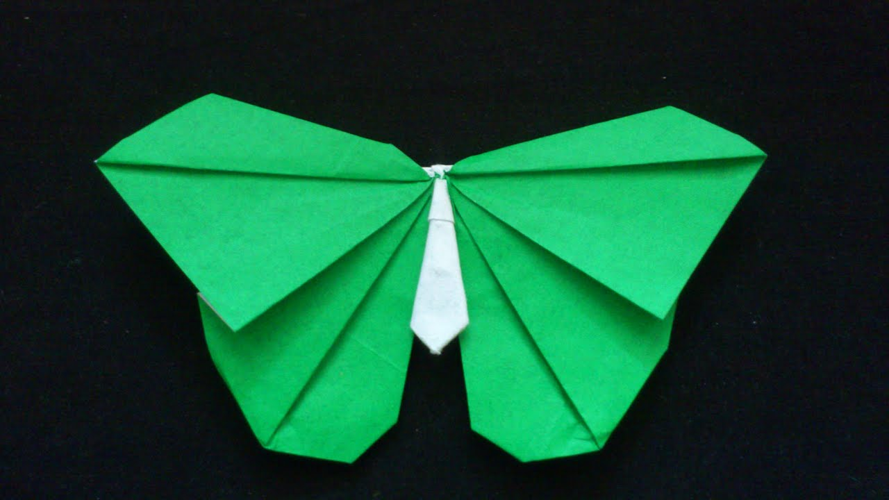 Origami Butterfly tutorial 034  Super Simple ORIGAMI