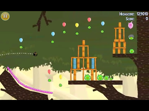 Official Angry Birds walkthrough for theme 6 levels 10-15