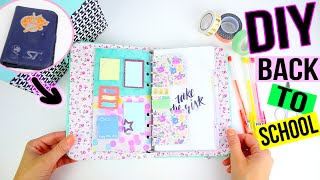 DIY BACK TO SCHOOL ┋PERSONNALISE TON AGENDA / PLANNER (Recyclage fournitures supplies) diy francais