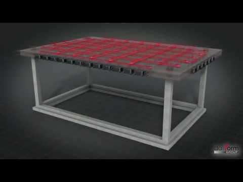 Solaio bidirezionale a piastra alleggerito Uboot Beton - solette alleggerite in calcestruzzo armato