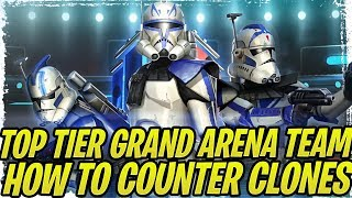 501st Clones Are OP? Top Tier Grand Arena Team and How to Counter 501st Clones! | SWGoH