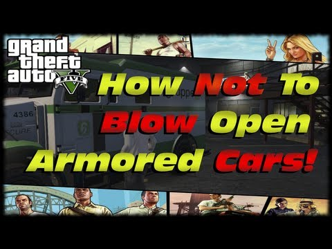 GTA 5 How To Open Armored Cars For Fast Money! LOL & Fail While Doing It! One Shot Two Kill Sniper!