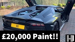 Lamborghini Aventador S Roadster with £20,000 matte black paintwork - £350,000 supercar