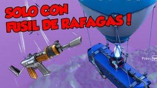 Ganando Solo Con Fusil De Rafagas Fortnite