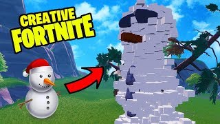 BUILDING A SNOWMAN IN FORTNITE! - Fortnite Season 7